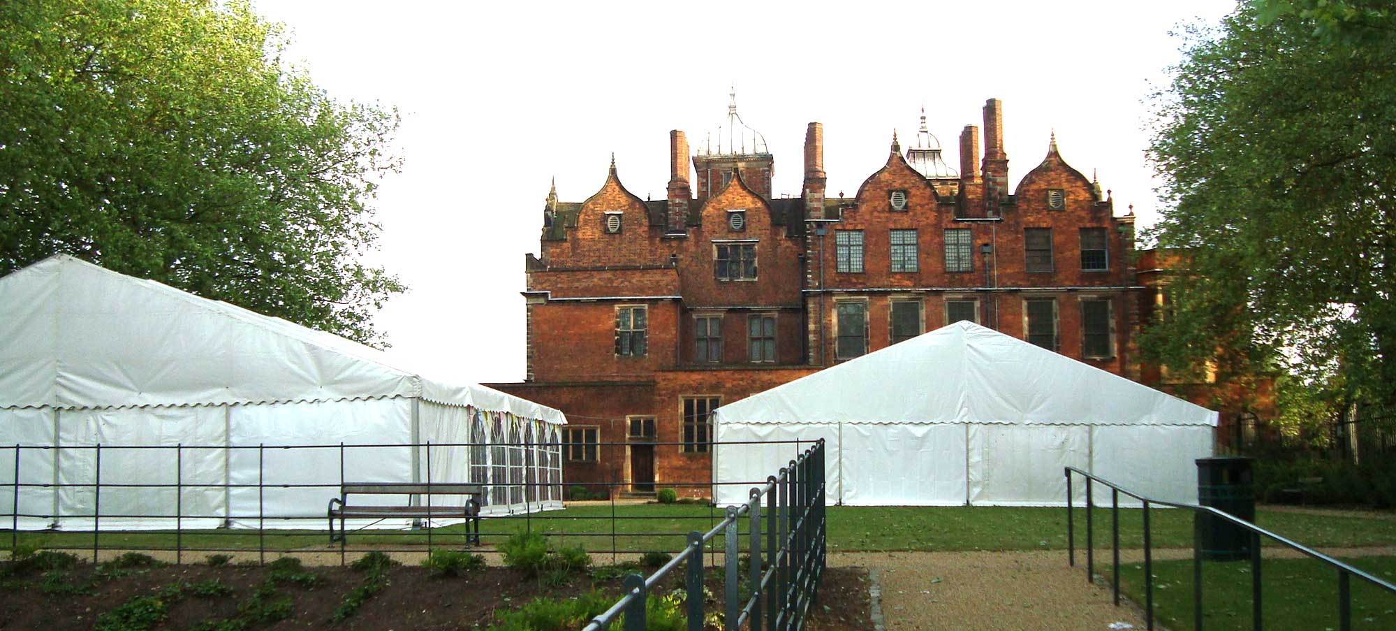 Marquee outside Aston Hall