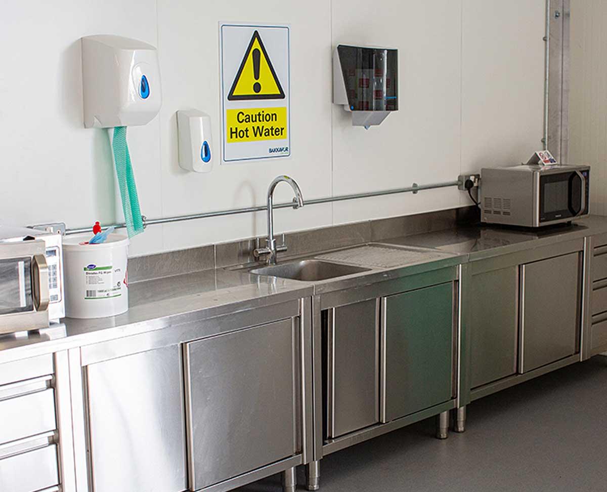 Temporary washing facilities