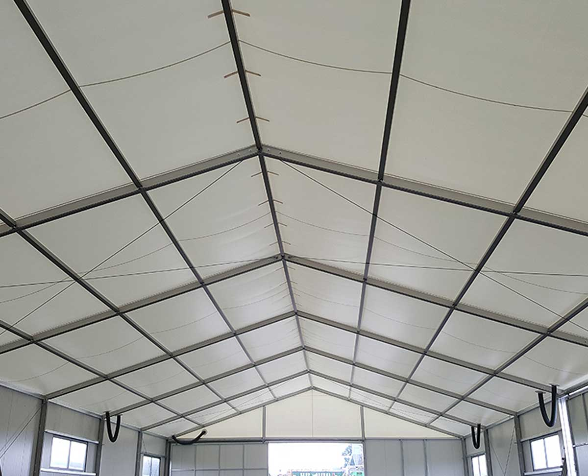 Insulated warehouse roof