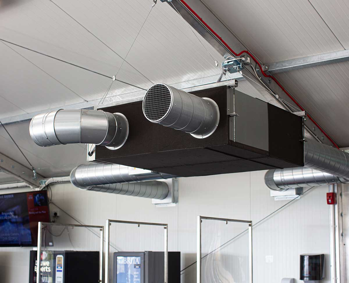 Temporary heating and ventilation unit