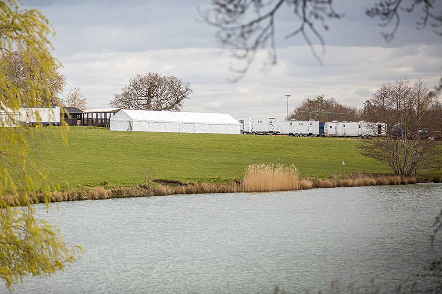 Catering marquee Ragley Hall