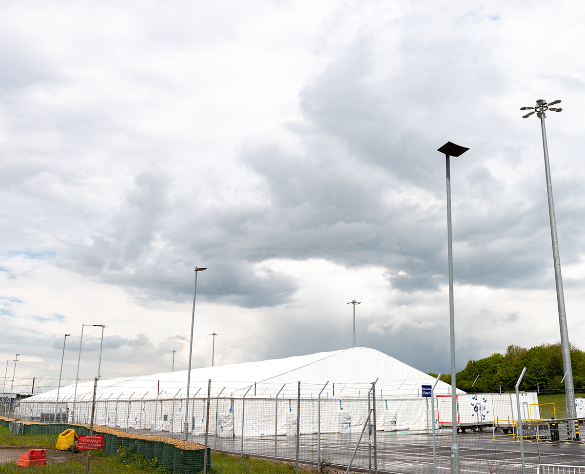 Temporary canteen structure